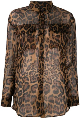 Simonetta Ravizza Leopard Print Shirt