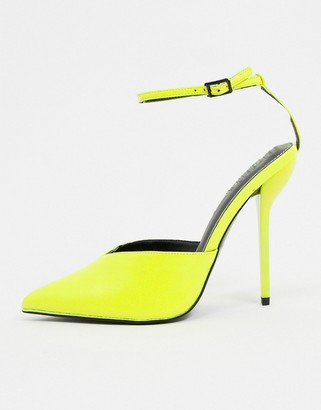 ASOS DESIGN Possible pointed high heels in yellow