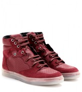 Balenciaga LEATHER AND SUEDE HIGH-TOP SNEAKERS
