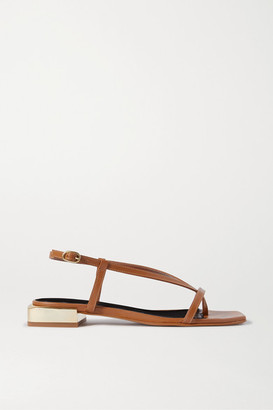Souliers Martinez Paulina Leather Sandals - Tan