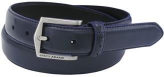Stacy Adams Men's 30mm Pinseal Leather Belt (Reg & Big Sizes)