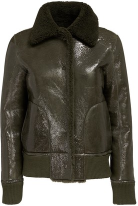 Remain Perla Shearling & Leather Crop Jacket