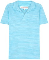 Orlebar Brown Felix Blue Striped Cotton Polo Shirt