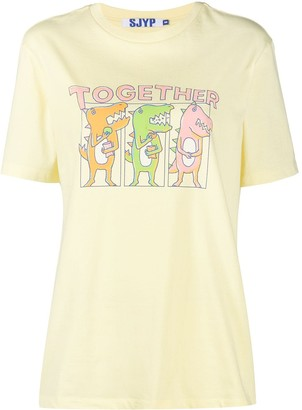 Sjyp Together Dino cotton t-shirt