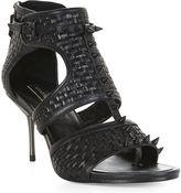 BCBGMAXAZRIA Cira Woven Spike High-Heel Sandal