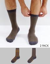 Levi's Levis Socks 2 Pack Fair Isle Blue