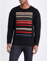 Nudie Jeans Ethnic stripe pure cotton T-shirt