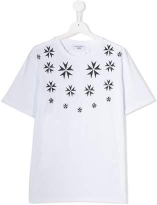 Neil Barrett Kids snowflake print T-shirt