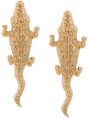 Natia X Lako medium Crocodile earrings