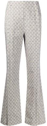 Acne Studios jacquard flared trousers