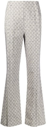 Acne Studios Jacquard Flared Trousers