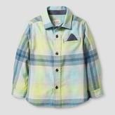 Cat & Jack Toddler Boys' Plaid Button Down Shirt Cat & Jack - Yellow