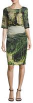 Tracy Reese Silk Printed Midi Dress