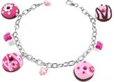 Dolci Gioie Sterling Silver Donut Charm Bracelet
