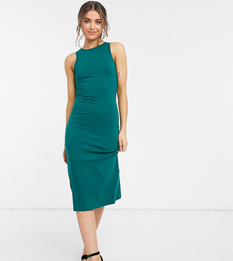 Outrageous Fortune exclusive racer back midi dress in emerald green