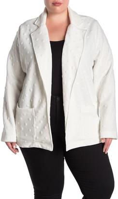 Gray La Long Sleeve Textured Fot Knit Jacket