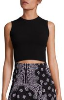 A.L.C. Ilana Ribbed Crop Top