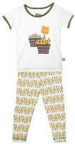Kickee Pants Print Pajama Set (Baby) - Natural Garden Veggies-6-12M