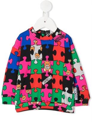 MOSCHINO BAMBINO Jigsaw Colour-Block Sweatshirt