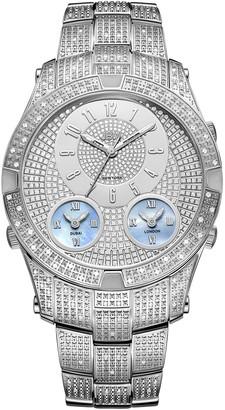 JBW Men's Jet Setter III Stainless Steel Diamond Watch, 46mm - 1.18 ctw