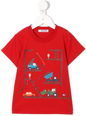 Familiar construction print T-shirt