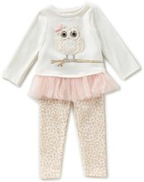 Mud Pie Baby Girls 9-18 Months Owl Tunic & Leopard-Print Leggings Set
