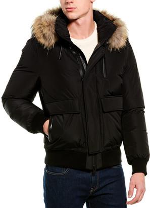 Mackage Nathan Leather-Trim Coat