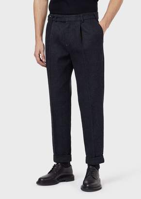 Giorgio Armani Jeans With Darts In Selvedge Cotton And Wool Denim
