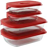 Pyrex Pro 8pc Rectangle Bakeware Set
