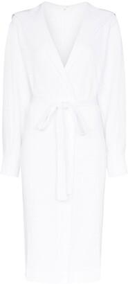 Skin Camilla waffle-knit cotton dressing robe