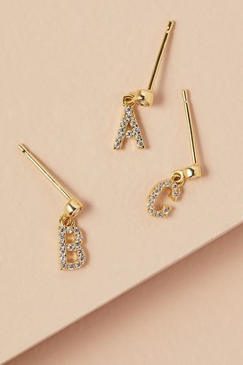 Monogram Delicate Drop Earrings