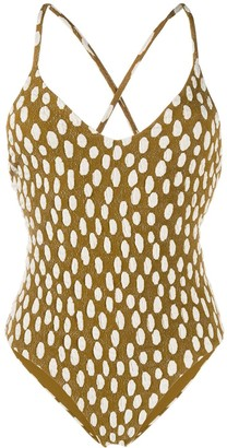 Mara Hoffman Dotted Swimsuit