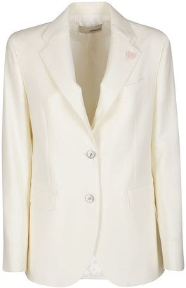 Lardini White Wool Blazer