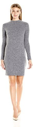 Lark & Ro Amazon Brand Women's Long Sleeve Mockneck Rib Knit Dress