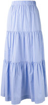 P.A.R.O.S.H. pleated maxi skirt - women - Cotton - XS