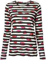 Proenza Schouler Striped Floral T-shirt