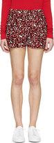 Stella McCartney Scarlet Silk Animal Spot Shorts