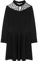 Ungaro Tulle-Paneled Stretch-Knit Mini Dress