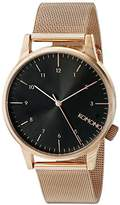 Komono Unisex KOM-W2354 Winston Royale Series Analog Display Japanese Quartz Rose Gold Watch
