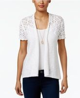 Style&Co. Style & Co Cotton Open-Front Cardigan, Only at Macy's