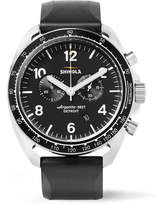 Shinola The Rambler Tachymeter Chronograph 44mm Stainless Steel and Rubber Watch