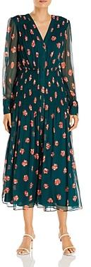Jason Wu Floral Print Silk Midi Dress