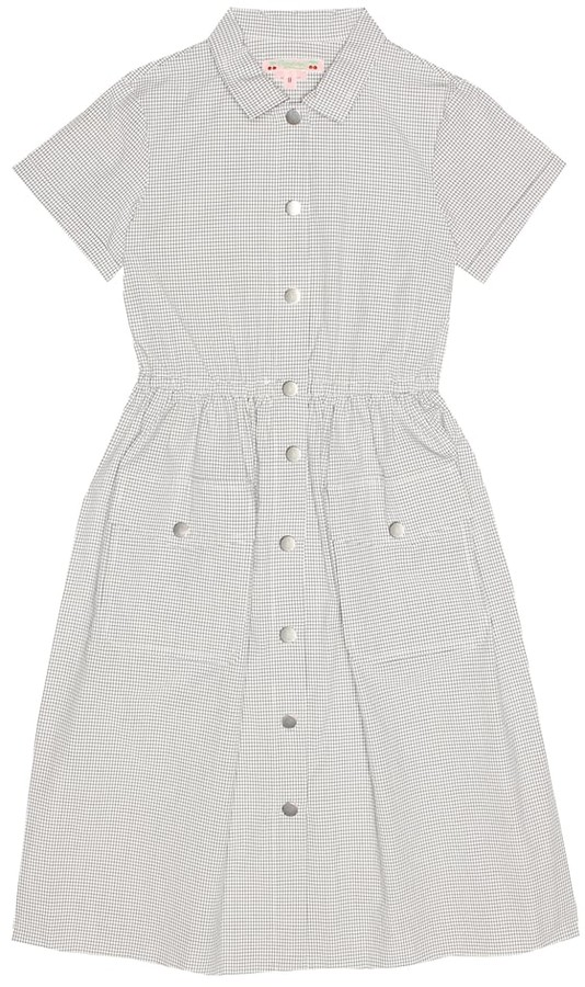 Bonpoint Louison checked cotton dress