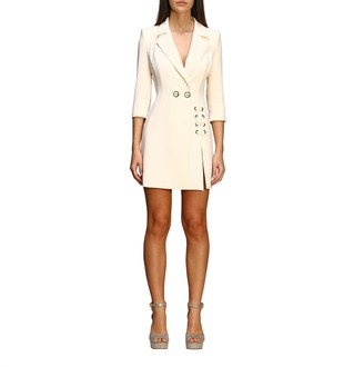 Elisabetta Franchi Dress Double-breasted Dress With Criss Cross