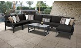 Bronx Benner 9 Piece Sectional Seating Group with Cushions Ivy Cushion Color: Black