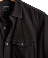Todd Snyder Micro Corduroy Western Shirt in Black
