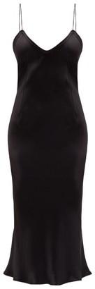 Saint Laurent Bias-cut Satin Slip Dress - Black