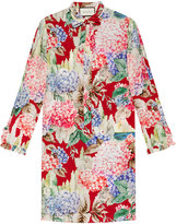 Gucci Hydrangea print silk dress - women - Silk - 36
