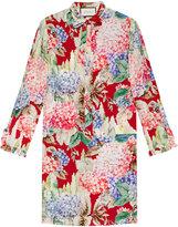 Gucci Hydrangea print silk dress - women - Silk - 44