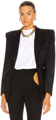 ATTICO Bold Shoulder Blazer in Black | FWRD